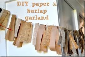 diy paper and burlap garland diy fast inexpensive and fall