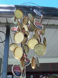 redneck home decor copenhagen lid windchime gotta make one for my husband stuff
