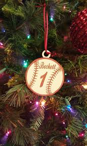 personalized baby christmas ornament best 25 baseball christmas ornaments ideas on