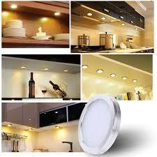 kitchen cabinet lighting uk led cabinet lighting kit 10w 1000lm puck lights