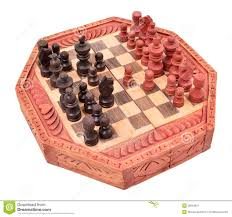 wooden chess pieces on a chess board is unique stock image image