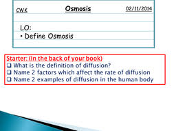 osmosis powerpoint by jm2450 teaching resources tes
