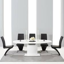 Black Extendable Dining Table Savana High Gloss Extending Dining Table With 6 Harvey Black