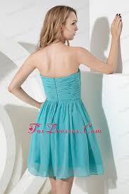 5 grade graduation dresses strapless aqua a line chiffon prom graduation dress knee length
