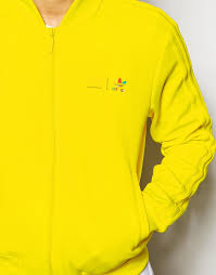 adidas originals mono colour jacket in yellow for men lyst
