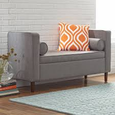 mercury row upholstered storage bench u0026 reviews wayfair
