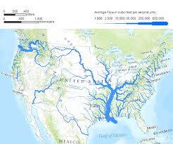 United States Of America Maps by Flow Rates A Map Of The United States Illustrating Flow Rates Of