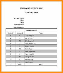 batting lineup template 100 images sle baseball roster 6
