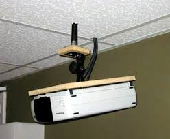 Projector Mount For Drop Ceiling by Diy Screen U0026 Ceiling Mount For Panasonic Pt L711xu Avs Forum