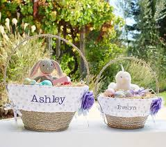 personalized easter basket liners glitter dot easter basket liners pottery barn kids