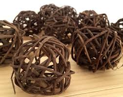 Decorative Spheres For Bowls Decorative Wicker Balls Decorative Balls Rattan Balls Twig