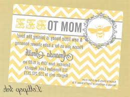 mother to bee baby shower invitations