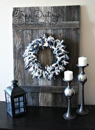 diy denim u0026 canvas wreath rustic shabby chic country cottage