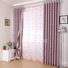 Purple Bedroom Curtains Pink Purple Heart Jacquard Faux Suede Insulated Bedroom Curtains