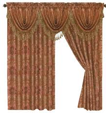 Jacquard Curtain Tiffany Jacquard Curtains With Gold Accent Traditional