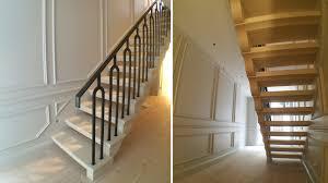 open tread limestone stairs notting hill