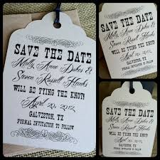save the date tags rustic vintage scroll eco friendly