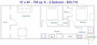 derksen 16 x 44 704 sq ft 2 bedroom factory finished cabin 16 x 32 small house plans best of derksen 16 x 44 704 sq ft 2