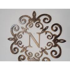Metal Wall Letters Home Decor Wall Art Designs Metal Letter Wall Art Family Initial Monogram