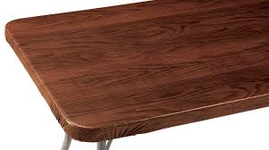 Fitted Oval Vinyl Tablecloths Wood Grain Vinyl Elasticized Banquet Table Cover Walmart Com