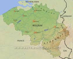 Physical Europe Map by Physical Map Of Belgium Equirectangular Projection New Zone