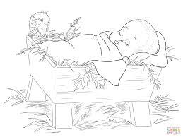 baby jesus coloring pages ba jesus manger scene coloring free