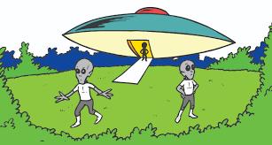 sci fi clipart cute alien spaceship pencil and in color sci fi