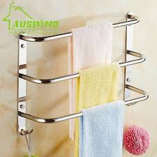 Bathroom Accessories Towel Racks by Real Shipping Solid Brass Chrome Single Double Towel Bar Towel