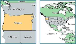 where is oregon state where is oregon located in the world