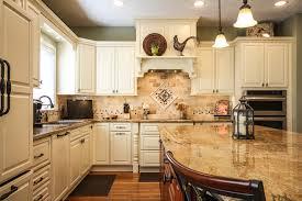 travertine backsplash tile kitchen traditional with integrated