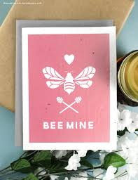 free printable bee mine seed paper valentine u0027s day cards to help
