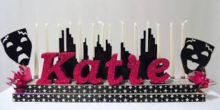 Sweet 16 Table Centerpieces Music Themed Sweet 16 Centerpiece Ideas Awesome Events Blog