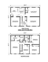 Log Cabin Home Floor Plans by Two Story Floor Plans Kintner Modular Homes