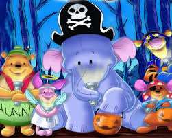 halloween tigger piglet and winnie the pooh cartoon hd wallpaper