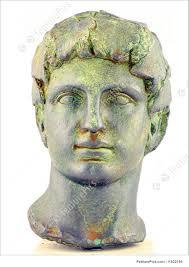 dionysus greek god statue sculptures dionysus god of wine and merriment stock image