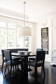 Black Banquette Jonathan Adler Bedding Dining Room Transitional With Artwork Beige