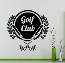 compare prices on golf wall murals online shopping buy low price wall decal golf club logo vinyl sport art sticker removable mural bedroom living room home decor
