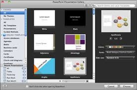 open the powerpoint presentation gallery in office 2011 for mac