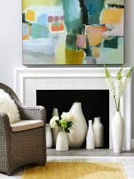 3 Stylish Mantel Displays Sainsbury 4 Ideas For Fireplace Decorating Fireplaces Warm Weather And Empty