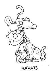 rugrats coloring pages getcoloringpages com