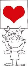 banner coloring pages coloring page of cute large heart banner for kids coloring point