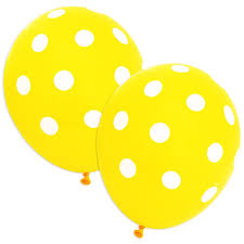 polka dot balloons yellow polka dot balloons pack of 20