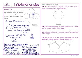 Regular Pentagon Interior Angles In Exterior Angles