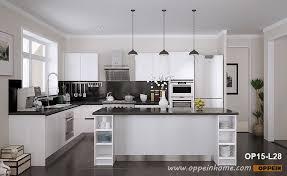 open kitchen cabinet design modern open white lacquer kitchen cabinet op15 l28 oppein