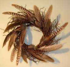 turkey feather wreath gardening forever with sue rambo