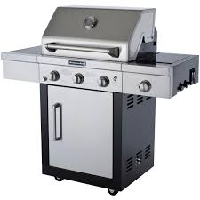Kitchenaid Gas Cooktop Accessories Kitchenaid 25 Inch Propane Gas Grill On Cart With Side Burner