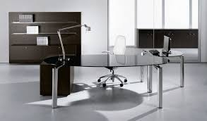 Modern Glass Executive Desk Office Magnificent Glass Office Desk Ideas Harmony For Home
