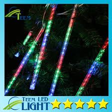 outdoor string lights rain multi color 13 1ft meteor shower rain tubes 8 led christmas lights