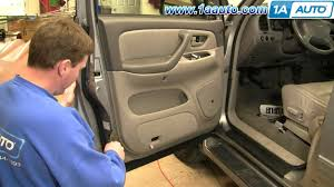 toyota side mirror replacement how to install replace side rear view mirror toyota sequoia 01 04