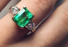 horizontal emerald cut engagement ring ring beguile emerald cut ring antique gorgeous emerald